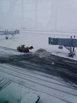 Аэропорт «Платов» закрыли из-за снегопада