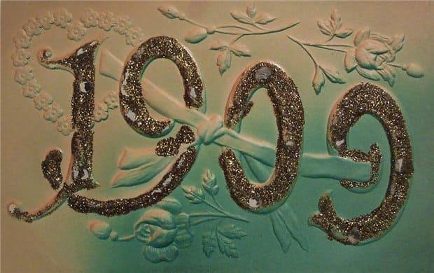 Новогодняя открытка начала прошлого века