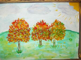 Картинки про осень для детей рисовать